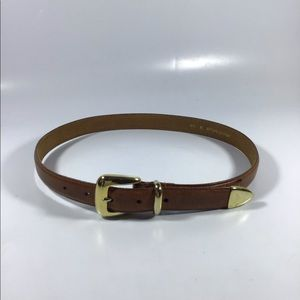 """Genuine leather belt with gold hardware 33"""""""